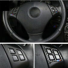 For BMW E90 05-12 Carbon Fiber style Car inside Steering wheel button stickers