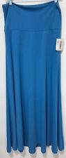 Lularoe Maxi Long Skirt Solid Bright Blue Size Medium new