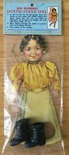 Old Fashioned Victorian Dancing Finger Doll Puppet Little Girl