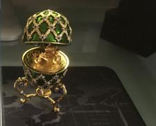 James Bond Octopussy, Coronation Coach Faberge' Egg replica , 007 Roger Moore
