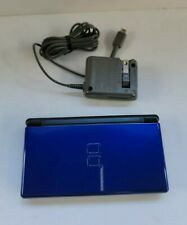 Nintendo DS Lite Cobalt/Black Handheld System with Charger Tested and Working