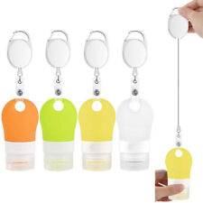 4Pcs Portable Hand Dispenser Empty Bottles Travel Toiletries Stretchable Lanyard