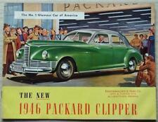 PACKARD CLIPPER DE LUXE USA Car Sales Brochure For 1946