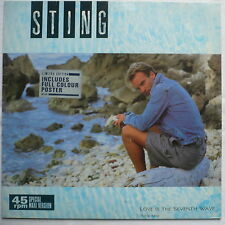 """STING - Love is the seventh wave (New mix)  - ltd 12""""-Maxi + Poster > The Police"""