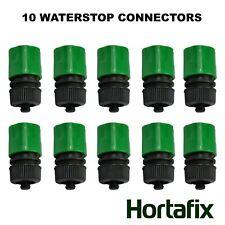 "Waterstop Garden Hose Connector 1/2"" Auto Shut Off: Pack of 10"