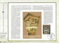 FEUILLET CEF 1er JOUR FRANCE EGLISE SAINT-AUSTREMOINE ISSOIRE 1973
