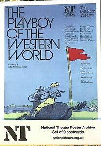 Set of 9 postcard reproductions of NATIONAL THEATRE OF GREAT BRITAIN posters