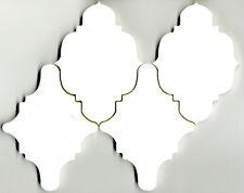 Wasserstrahl-geschnittene Rauten aus weißem Marmor, Rosone, Rosette