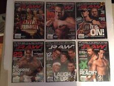 Lot of 6 WWE Raw Magazine 2006 Jan Feb Mar May Jun Jul RVD Cena Triple H WWF
