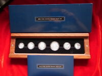 AUSTRALIA.  2010 Fine Silver Proof Set - 6 Coins in Timber Case   CoA # 658