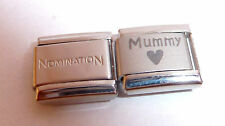 MUMMY + BLACK HEART Italian Charm + 1x Genuine Nomination Classic I LOVE MY MUM