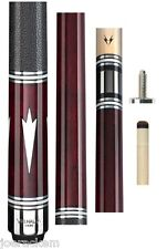 New Valhalla VA902 Red Euro Stain Cue - 13mm Shaft - FREE 3 Piece Gift Set