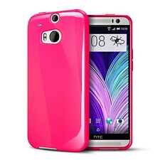 TPU Gel iskin Jelly Case Cover for HTC One M8 - Hot Pink