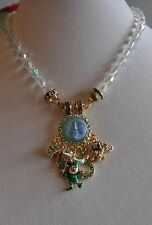 KIRKS FOLLY LUCKY CHARMS SEAVIEW MOON MAGNETIC DESIRE NECKLACE  GOLD TONE