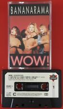 BANANARAMA WOW! CASSETTE TAPE WOW RUMOUR LOVE IN THE FIRST DEGREE PAPER LABELS