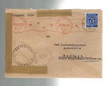 1947 Germany Dachau War Crimes Prosecution Cover to Austria Justice Bureau