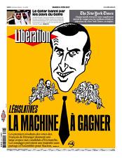 LIBÉRATION n°11208 du 6/6/2017*MACRON machine à GAGNER*QATAR banni*SupN.Y.TIMES