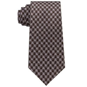 Sean John Brown Bold Houndstooth Neck Tie Silk Mens New 029407264532