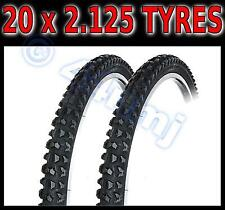 Bike Bicycle 20 x 2.125 Mountain bike mtb OFF ROAD TYRES x2 20 inch NEW