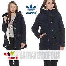 Adidas Originals BLUE WINTER C PARKA Jacket Women WARM COAT Rita Ora UK 12