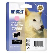 EPSON Originale T0966 HUSKY Cartuccia di inchiostro VIVID MAGENTA CHIARO PER STYLUS R2880