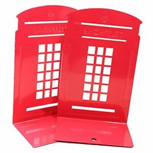 1X(1 Paio London Phone Booth Design Fermalibri Per Libri Fermalibri Antisci Q9M4
