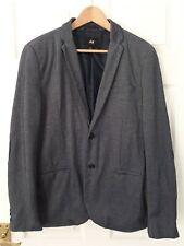 H&M Men's, 38R, Blue, Cotton Blend Blazer/Jacket, Navy Blue Elbow Patches!