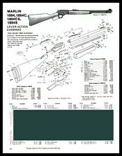1992 Marlin 1894 1894C 1894Cs Carbine Schematic Exploded View Parts List Ad