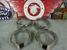 1964 Mercury Chrome Head Light Bezels ( four )