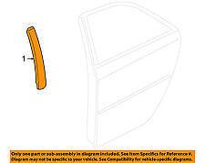 Cadillac STS  05-11  Exterior-Rear Door-Applique Left OEM 15937023 ,15837473 New