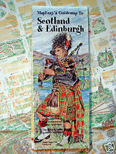 NEW- MAP OF SCOTLAND/ EDINBURGH,MapEasyGuide w/Museums,Pubs,Hotels,Camping,Metro