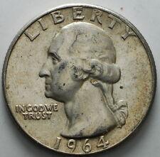 1964    USA   Quarter  dollar  25 cent  silver