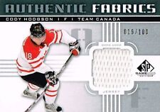 11-12 SP Game Used Authentic Fabrics xx/100 Made! Cody HODGSON Team Canada