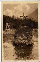 Bad Ischl Österreich alte Postkarte 1909 gelaufen Partie am Kreuzstein Austria