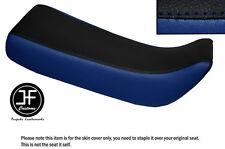 Vinilo Negro y Azul Real Personalizado SE AJUSTA a HONDA Xr 100 R 85-97 Doble Cubierta de asiento solamente