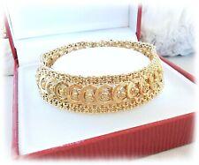 Bracelet Ancien / Gourmette / filigrané / Or Jaune 18 K / 18 carats / (750°/°°)