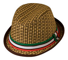 Italia Fedora/Trilby Hat  Cotton Band Red White & Green Wales / Mexico / Italy