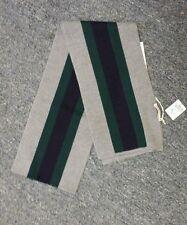 NWT NEW Gucci kids boys girls beautiful gray navy blue green web striped scarf