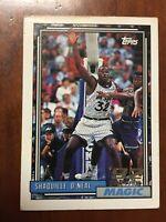 Shaquille SHAQ O'Neal 🔮Rookie Card 1992-93 Topps #362 92 Draft Pick HOF Magic