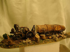 Steam Engine Tractor from historic pictures-custom weathered, painted  HO -lot 4