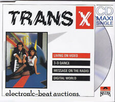 TRANS-X Living On Video w Message On The Radio RARE GERMAN IMP CD oop CYBERNIUM