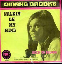 7inch DIANA BROOKS walkin on my mind HOLLAND PINK ELEPHANT 1973 NOTHERN SOUL