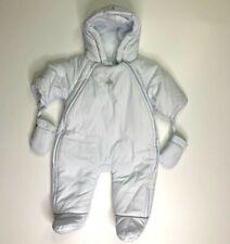 Jacadi Paris Pale Light Blue Snowsuit Bunting 1 Month NB Newborn
