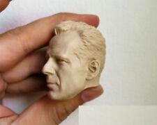 1/6 Unpainted Head Carved Sculpt Male Bruce Willis Action Figure Model Toy