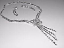 Schmuck Set - Exklusives Collier - Kette mit Kristall und Ohrringen