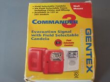 New listing Gentex Ges3-24Wr, Wall Mount Red Selectable Strobe Evacuation 24Vdc New Surplus