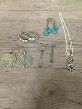 Sterling Silver Lot Abalone Turquoise Coloured