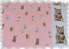 Lovely Animals Motivstoff rosa Stretch-Jersey Rapportstoff Kinderstoff Katzen