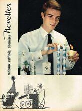 A- Publicité Advertising 1963 Vetements Chemise pour Homme Noveltex