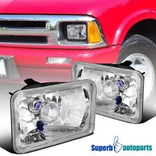 4X6 Seal LED Beam Halogen H4 Headlights Square Head Lamps Pair
